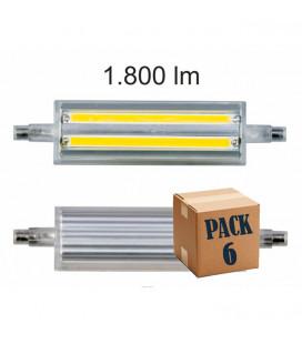 Pack de 6 LINEAL 13W R7S 118MM 220V 160º LED de Beneito Faure