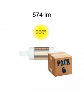 Pack de 6 LINEAL TUBULAR 5W R7S 78MM 220V 360º LED de Beneito Faure