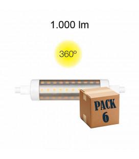 Pack de 6 LINEAL TUBULAR 9W R7S 118MM 220V 360º LED de Beneito Faure