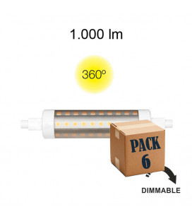 Pack 6 LINEAL TUBULAR 9W R7S 118MM 220V 360º DIMMABLE LED de Beneito Faure