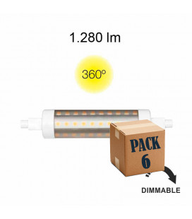 Pack de 6 LINEAL TUBULAR 11W R7S 118MM 220V 360º DIMMABLE LED de Beneito Faure