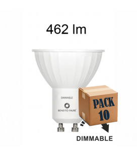 Pack de 10 GU10 6W 220V 120º DIMMABLE LED de Beneito Faure