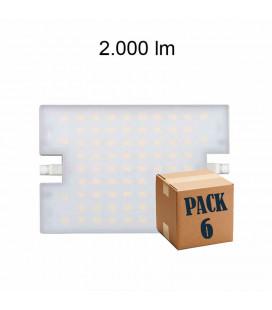 Pack de 6 LINEAL 20W R7S 118MM 220V 120º LED de Beneito Faure