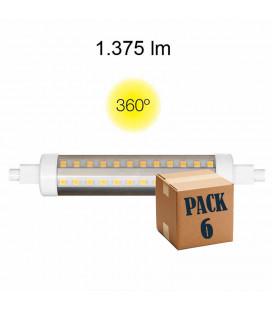 Pack de 6 HQI TUBULAR 13W RX7S 138MM 220V 360º LED de Beneito Faure