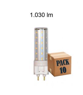 Pack de 10 HQI G12 TUBULAR 10W 220V 360º LED de Beneito Faure
