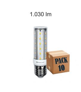 Pack de 10 HQI E27 TUBULAR 10W 220V 360º LED de Beneito Faure