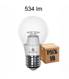 Pack 10 STANDARD TRANSPARENT 7W E27 220V 360º LED de Beneito Faure