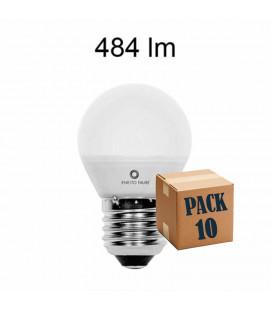 Pack de 10 ESFERICA 5W E14 y E27 220V 360º LED de Beneito Faure