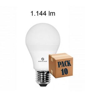 Pack de 10 STANDARD 12W E27 220V 360º LED de Beneito Faure