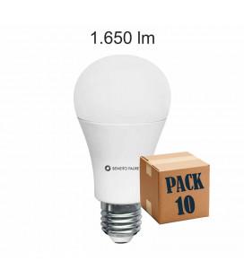 Pack de 10 STANDARD 17W E27 220V 360º DIMMABLE LED de Beneito Faure