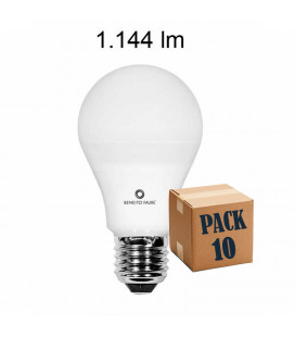 Pack 10 STANDARD 12W E27 220V 360º DIMMABLE LED de Beneito Faure