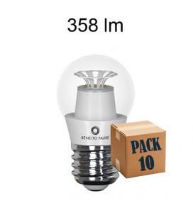 Pack de 10 ASH ESFERICA TRANSPARENT 5W E14/E27 220V 360º LED de Beneito Faure