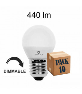 Pack de 10 ESFERICA 5,5W E14-E27 DIMMABLE LED de Beneito Faure