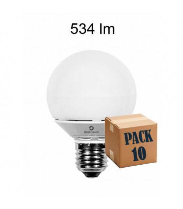Pack de 10 MICRO GLOBO 6W E27 220V 360º LED de Beneito Faure