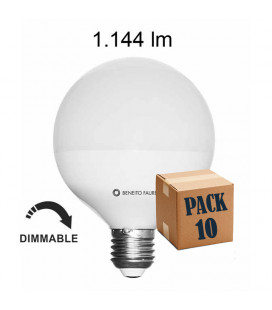 Pack 10 GLOBO 10W E27 220V 360º DIMMABLE LED de Beneito Faure