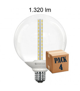 Pack de 10 OPPO GLOBO TRANSPARENT 13W E27 LED de Beneito Faure
