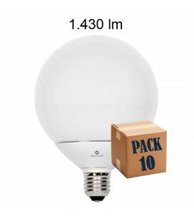 Pack de 10 GLOBO 14W E27 220V 360º LED de Beneito Faure