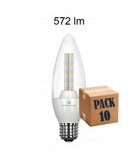Pack de 10 NUK FLAMA TRANSPARENT 8W E14/E27 220V 360º LED ULTRAWARM de Beneito Faure