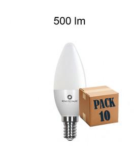 PACK DE 10 FLAMA 5,5W E14/E27 220V 360º LED de Beneito Faure