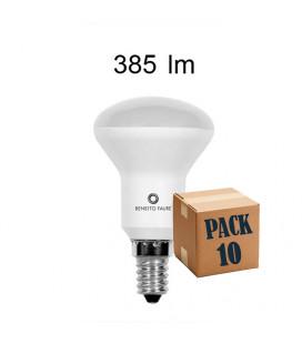 Pack de 10 R-50 5W E14 220V 120º LED de Beneito Faure