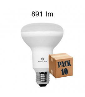 Pack 10 R-80 10W E27 220V 120º R-LINE LED de Beneito Faure