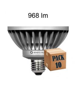 Pack de 10 PAR 30 12W BLACK LINE LED ANTIDESLUMBRANTE de Beneito Faure