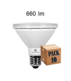 Pack de 10 PAR 30 10W E27 220V 45º R-LINE LED de Beneito Faure