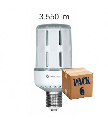 Pack de 6 ARIA 30W E27/E40 220V 360º LED de Beneito Faure
