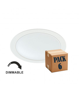 Pack 6 NOI 14W BLANCO 220V 100º DIMMABLE LED de Beneito Faure