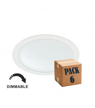 Pack de 6 NOI 14W BLANCO 220V 100º DIMMABLE LED de Beneito Faure