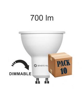 Pack de 10 SYSTEM GU10 8W 220V 60º DIMMABLE LED de Beneito Faure