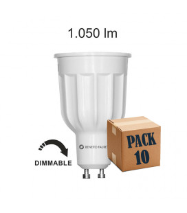 Pack 10 POWER GU10 10W 220V 60º DIMMABLE LED de Beneito Faure