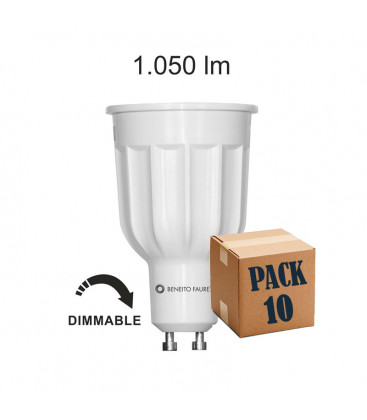 Pack de 10 POWER GU10 12W 220V 60º DIMMABLE LED de Beneito Faure