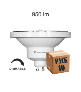 Pack 10 LYNK AR111 13W GU10 220V 45º DIMMABLE LED de Beneito Faure