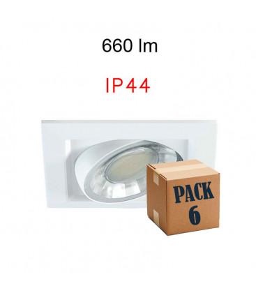 Pack de 6 COMPAC 8W 220V 90º LED de Beneito Faure