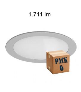 Pack de 6 ZEN 25W ALUMINIUM 220V 120º LED de Beneito Faure