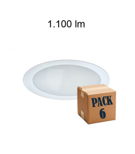 Pack 6 ION 15W ALUMINIUM BLANCO 220V 120º LED de Beneito Faure