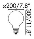 Bombilla LED con filamento G200 ámbar 5W regulable de Faro