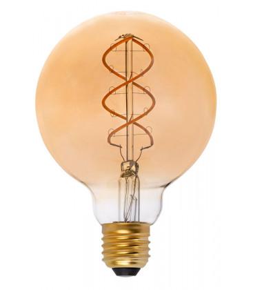 Globo LED con filamento G95 ámbar 5W 2000K de Faro