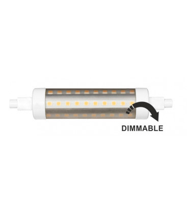 9W tubulaire linéaires R7S 118MM 220V 360º LED DIMMABLE Beneito Faure