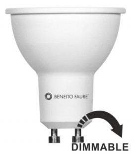 GU10 6W 220V 120 ° LED REGLABLE Beneito Faure