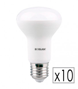 Pack 10 LED bulb R63 8W by Roblan