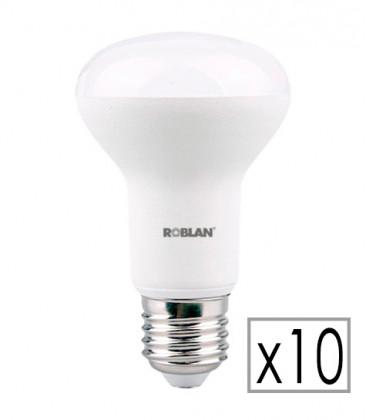 Pack 10 Bombilla LED R63 8W de Roblan