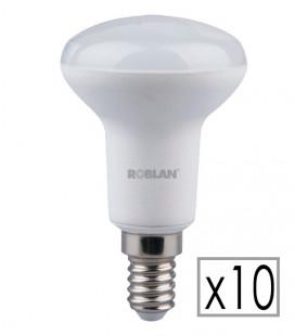 Pack 10 bombilla LED R50 6W de Roblan
