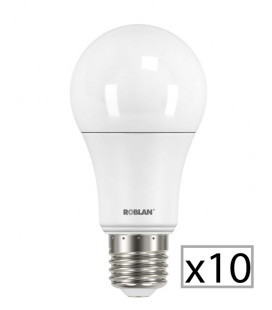 Pack 10 standard LED SKY A60 9W by Roblan