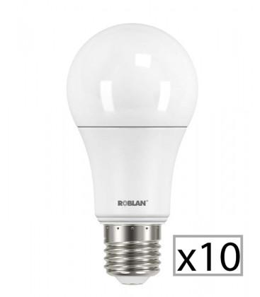 Pack 10 estándar LED SKY A60 9W de Roblan