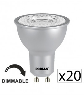 Pack 20 dichroïque LED PRO SKY 7W dimmable de Roblan