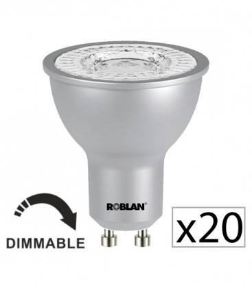 Pack 20 Dicroica LED PRO SKY 7W dimmable de Roblan