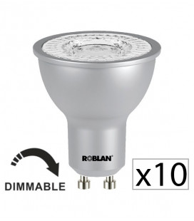 Pack 10 Dicroica LED PRO SKY 7W dimmable de Roblan