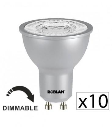 Pack 10 dichroïque LED PRO SKY 7W dimmable de Roblan